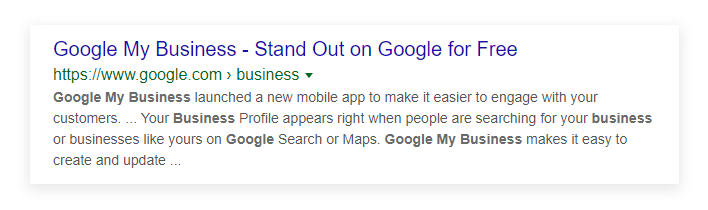 Google My Business Stand out